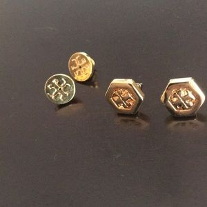Tory Burch hexagon earrings